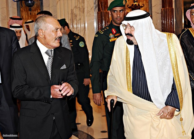 Ex Yemeni President Saleh and King Abdallah